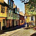 Elm Hill Norwich England by Darren Burroughs