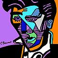 Elvis Presley Abstract by C Baum