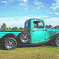 Emerald Green 1936 Ford Pickup by Randall Thomas Stone