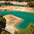 Emerald Lake I. El Chorro. Spain by Jenny Rainbow