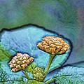 Emerald Stamped Floret by Bill Tiepelman