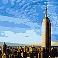 Empire State Building Color 16 by Scott Kelley