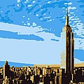 Empire State Building Color 6 by Scott Kelley
