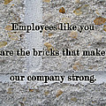 Employee Service Anniversary Thank You Card - Cement Wall by Mother Nature
