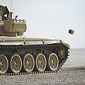 Empty Casings Eject From An Iraqi T-72 by Stocktrek Images