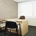 Empty Desk In An Office by Skip Nall