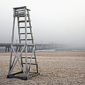 Empty Lifeguard Chair by Skip Nall