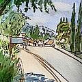 Empty Road Sketchbook Project Down My Street by Irina Sztukowski