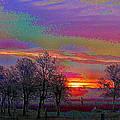 Enameled Sunrise Of Northern California by Joyce Dickens