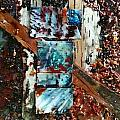 Encaustic Bark Collage