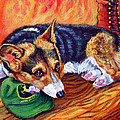 End Of The Day - Pembroke Welsh Corgi by Lyn Cook