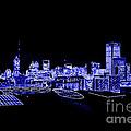 Energetic Atlanta Skyline - Digital Art by Carol Groenen