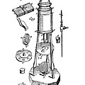 Engraving Of A Culpeper Microscope (1730) by