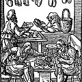 Engraving Of Cobblers Making Leather Shoes. by