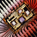 Enhanced Macrophoto Of A Hybrid Integrated Circuit by Pasieka
