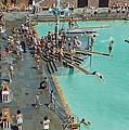 Enjoying The Pool At Jones Beach State by B. Anthony Stewart