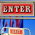 Enter And Exit Signs by Valentino Visentini