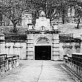 entrance bridge and ornate tunnel to Glasgow necropolis cemetery Scotland UK by Joe Fox