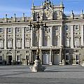 Entrance Of The Royal Palace In Madrid by Perry Van Munster