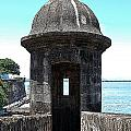 Entrance To Sentry Tower Castillo San Felipe Del Morro Fortress San Juan Puerto Rico Poster Edges by Shawn O'Brien