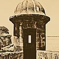 Entrance To Sentry Tower Castillo San Felipe Del Morro Fortress San Juan Puerto Rico Rustic by Shawn O'Brien