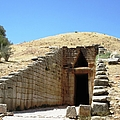 Entrance To The Royal Tombs And The Treasury Of Atreus Agamemnon In Mycenae Greece by John Shiron