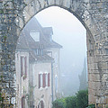 Entryway To St Cirq In The Fog by Greg Matchick