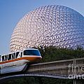 Epcot And Monorail by Tim Mulina