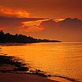 Epic Sunset In The Tropical Maldivian Island by Jenny Rainbow