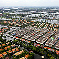 Erial View Of Flood Waters Affecting An by Stocktrek Images