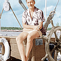 Errol Flynn Relaxing On His Yacht, Ca by Everett