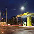 Estonian Gas Station At Night by Jaak Nilson