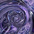 Eternal Depth Of Abstract And Chrome Fx  by G Adam Orosco