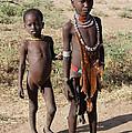 Ethiopia-south Tribesman Boy And Sister No.1 by Robert SORENSEN