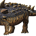 Euoplocephalus Tutus, A Prehistoric Era by Sergey Krasovskiy