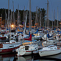 Evening At The Marina by Eunice Gibb