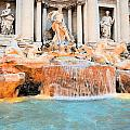 Evening At Trevi Fountain by