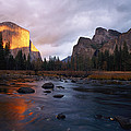 Evening Sun Lights Up El Capitan by Phil Schermeister