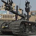 Explosive Ordnance Disposal Robot Used by Stocktrek Images