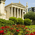 Exterior Of The Athens Academy, Greece by Richard Nowitz