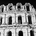 External View Of Three Upper Tiers Of Archways Of Old Roman Colloseum El Jem Tunisia by Joe Fox