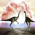 Extinction Of The Dinosaurs, Artwork by Jose Antonio PeÑas