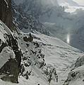Extreme Skier Jean Franck Charlet by Gordon Wiltsie