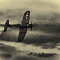 F4u Corsair In Sepia by Roger Wedegis