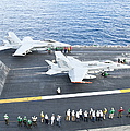 Fa-18 Aircraft Prepare To Take by Stocktrek Images