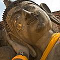 Face Of A Reclining Buddha by U Schade