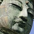 Face Of The Daibutsu Or Great Buddha by Axiom Photographic