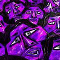 Faces - Purple by Karen Elzinga