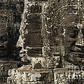 Faces Of Banyon Angkor Wat Cambodia by Bob Christopher