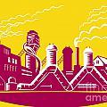 Factory Building Power Plant Retro by Aloysius Patrimonio
